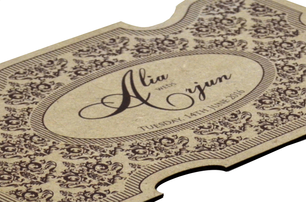 Wooden Laser Cut Invitation Design PP 8307 b