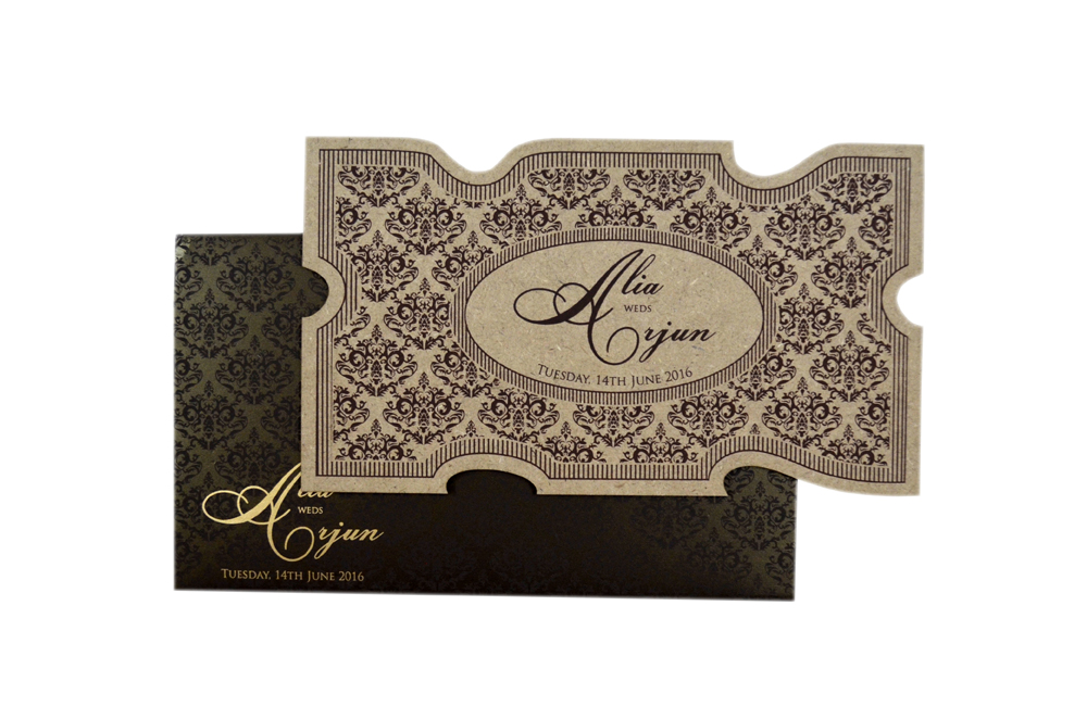 Wooden Laser Cut Invitation Design PP 8307 d