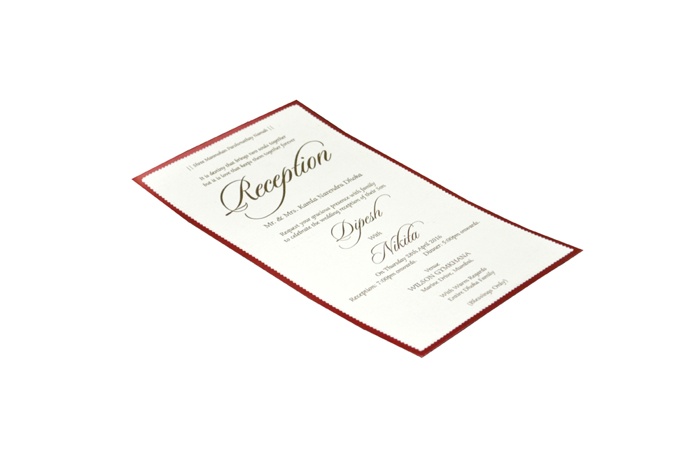 Single Sheet Invitation Design PP 8322 c