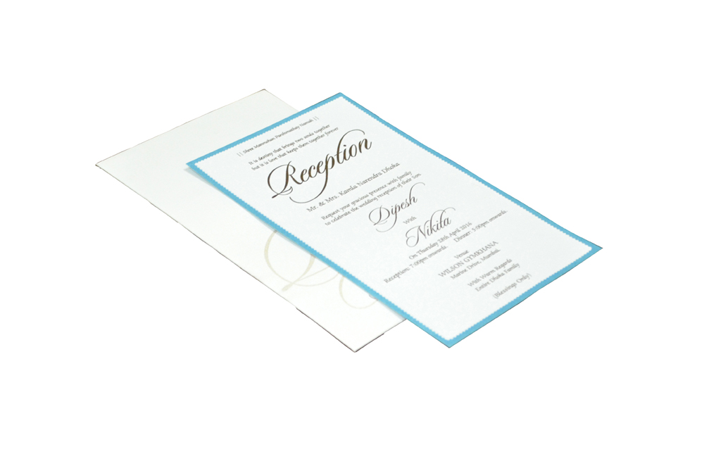 Single Sheet Invitation Design PP 8324