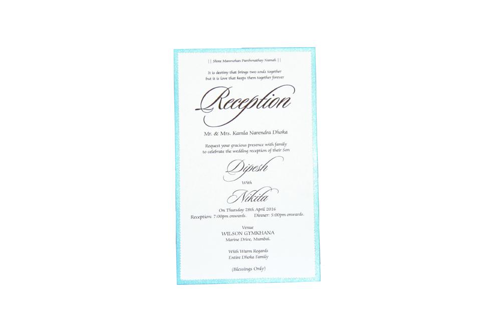 Single Sheet Invitation Design PP 8324 d