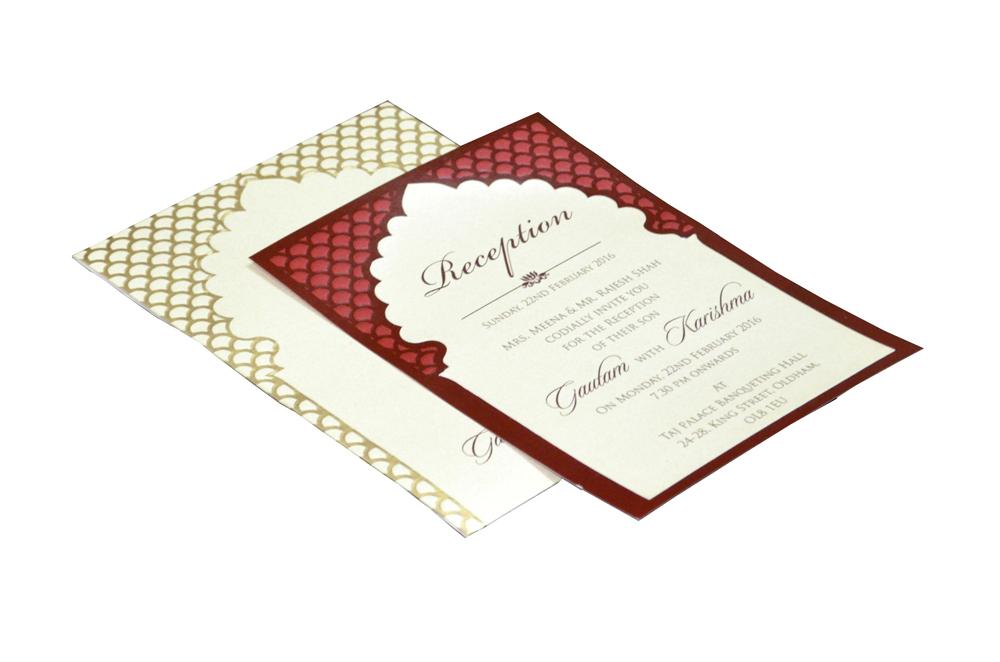 Single Sheet Invitation Design PP 8347