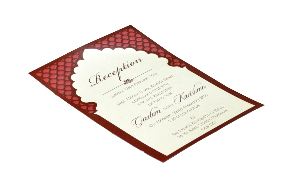Single Sheet Invitation Design PP 8347 c