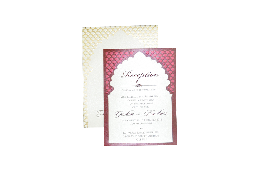 Single Sheet Invitation Design PP 8347 d
