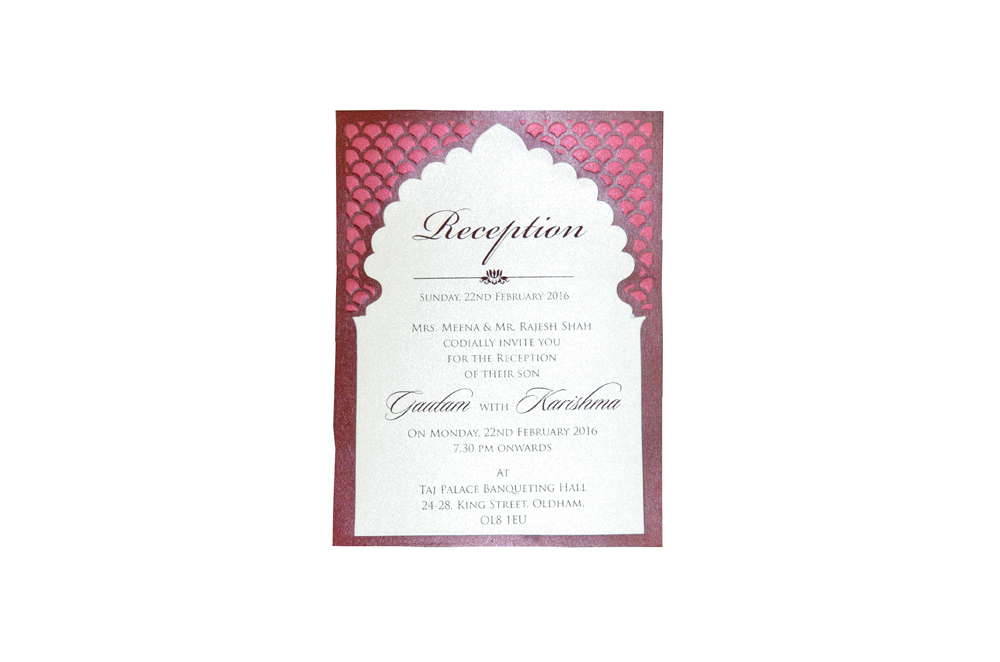 Single Sheet Invitation Design PP 8347 e