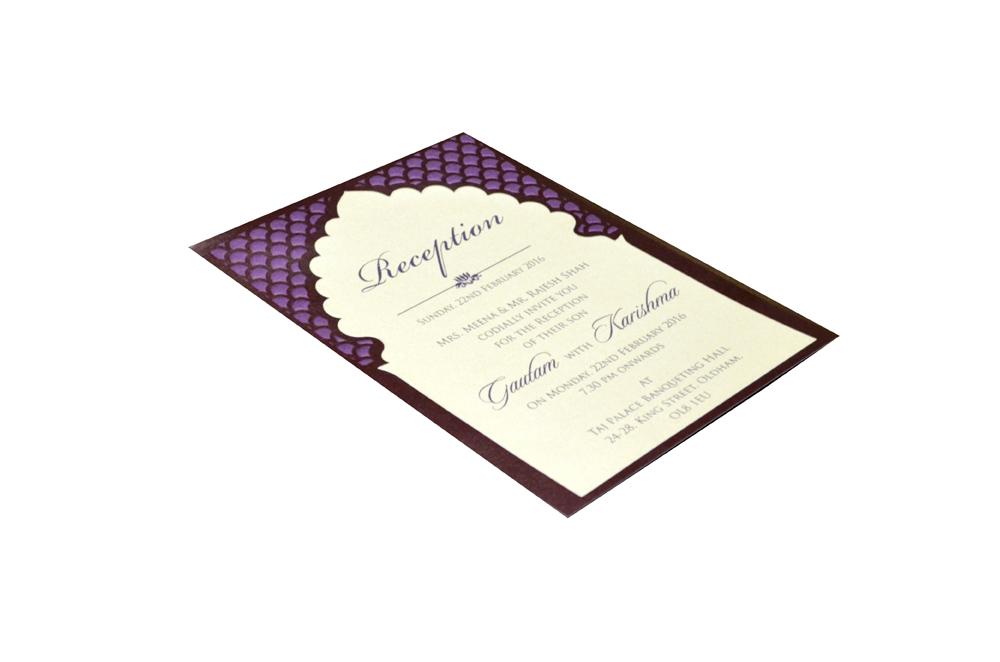 Single Sheet Invitation Design PP 8348 c