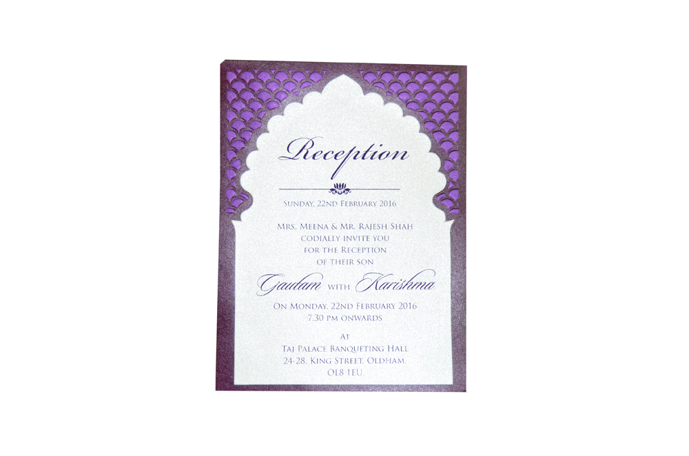 Single Sheet Invitation Design PP 8348 e