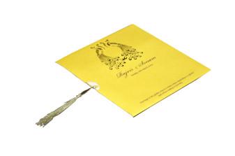 Yellow Peacock Theme Invitation Design PP 8349