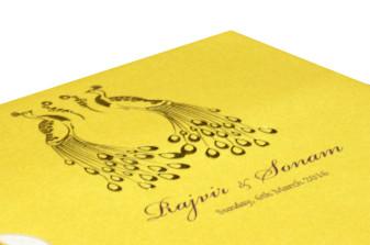 Yellow Peacock Theme Invitation Design PP 8349 b