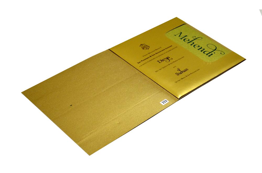 Golden & Orange Wedding Card Design PR 333 d