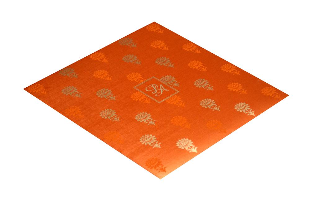 Pink and Orange Designer Wedding Card PR 347 c
