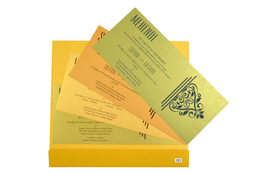 Designer Budget Wedding Card PR 351 g