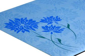 Blue Flower Theme Wedding Card Design PR 354 b