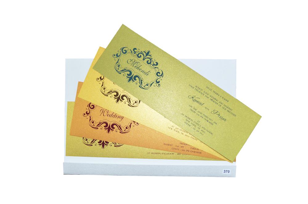 White Budget Wedding Card Design PR 370 e