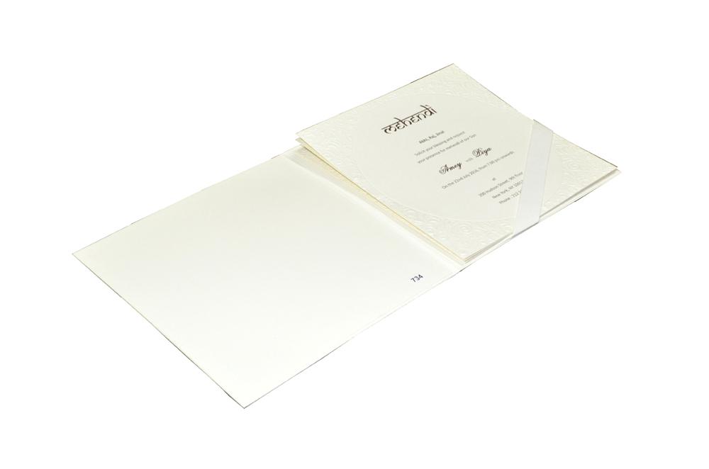 Hindu Wedding Card Design PR 734 e