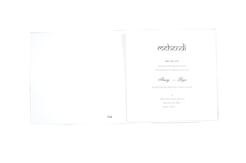 Hindu Wedding Card Design PR 734 f