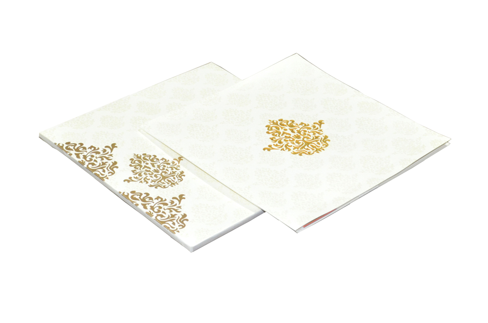 White Laser Cut Wedding Wedding Card Design PR 735