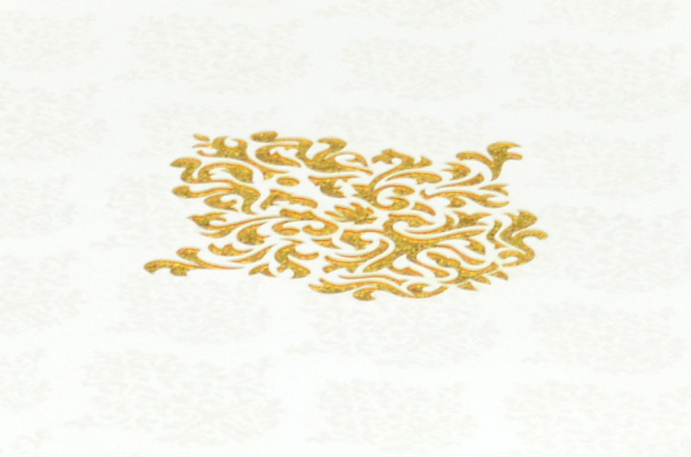 White Laser Cut Wedding Wedding Card Design PR 735 b