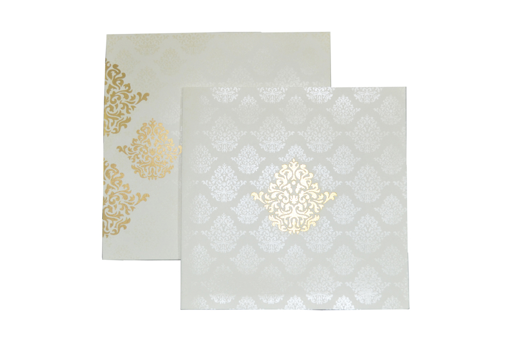 White Laser Cut Wedding Wedding Card Design PR 735 d