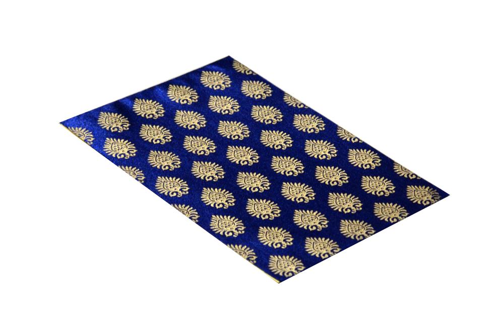 Satin Cloth Invitation RN 136 BLUE c