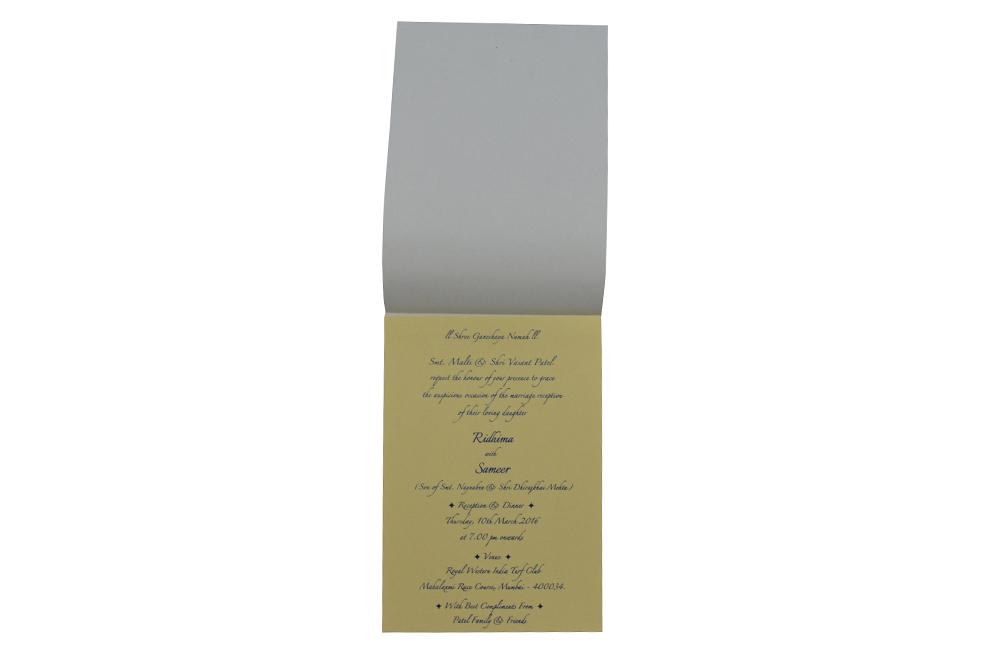 Satin Cloth Invitation RN 136 BLUE f
