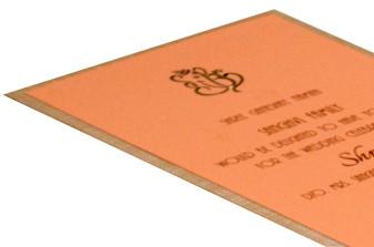 Padded Single Sheet Invitation RN 143 PEACH b