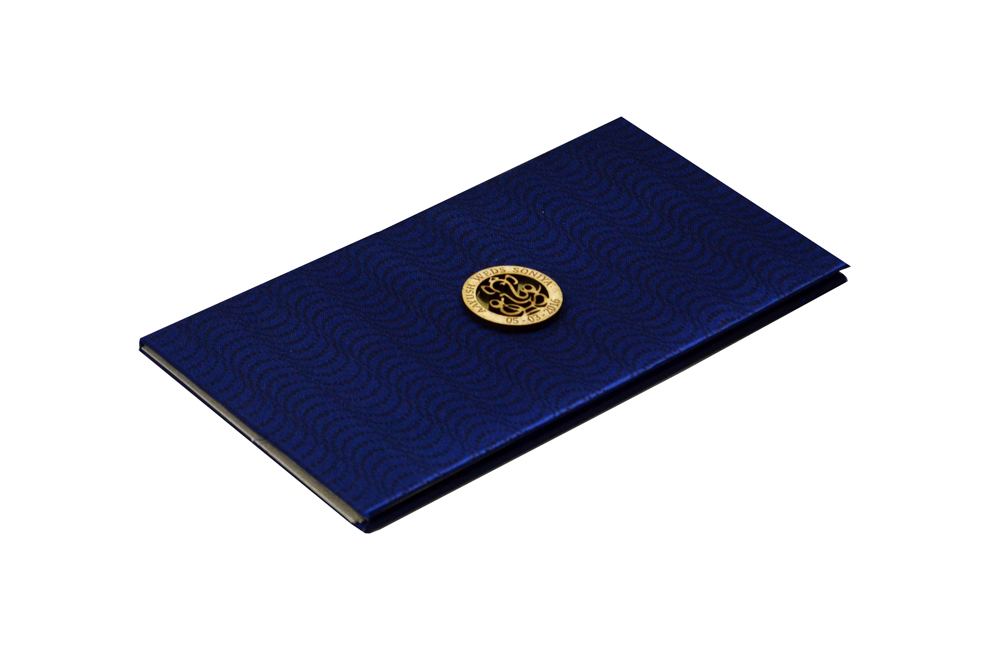 Blue Satin Cloth Card Design RN 1934 Card