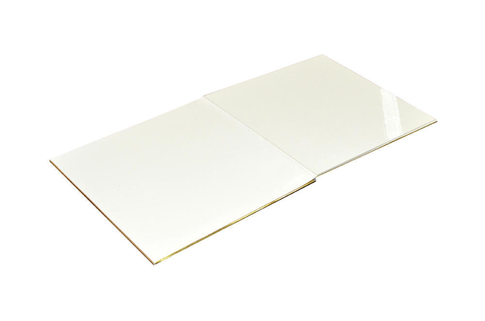 White Satin Cloth Exclusive Wedding Card RN 2001 e