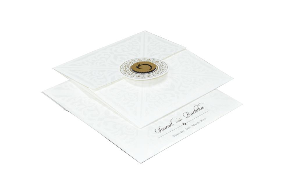Hindu Wedding Card RN 2021 CREAM