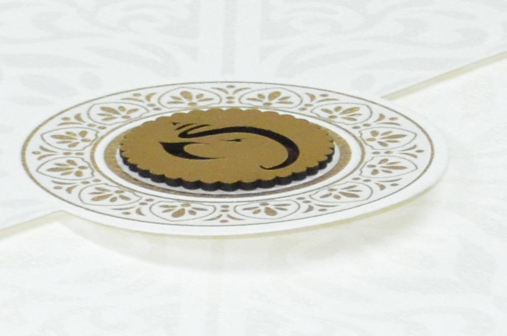 Hindu Wedding Card RN 2021 CREAM b