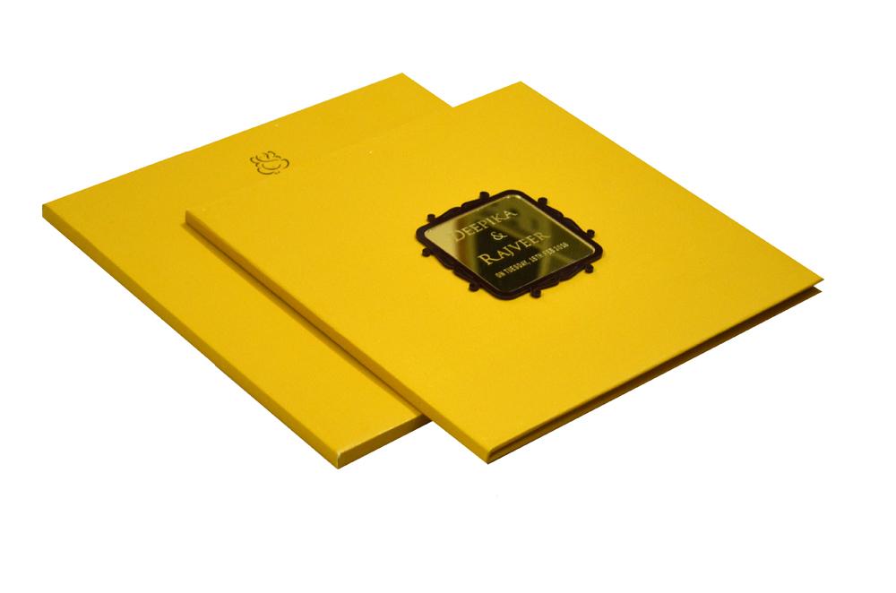 Rust Gold Padded Wedding Card RN 2040 HALDI