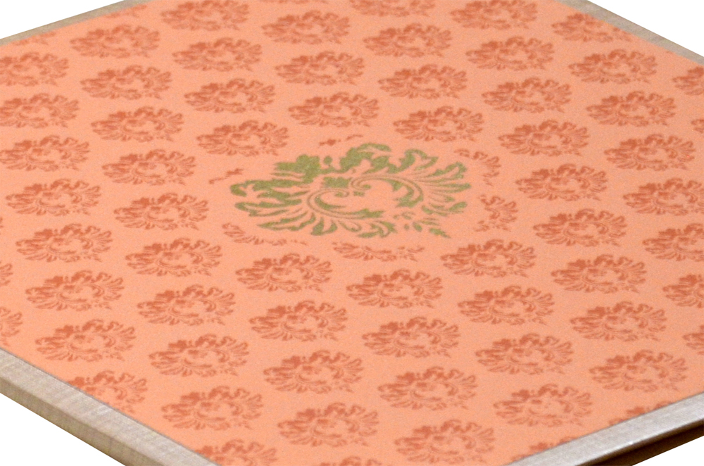 Padded Wedding Card Design RN 2044 PEACH b