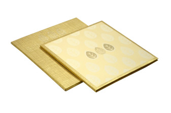 Padded Wedding Card Design RN 2046 GOLD