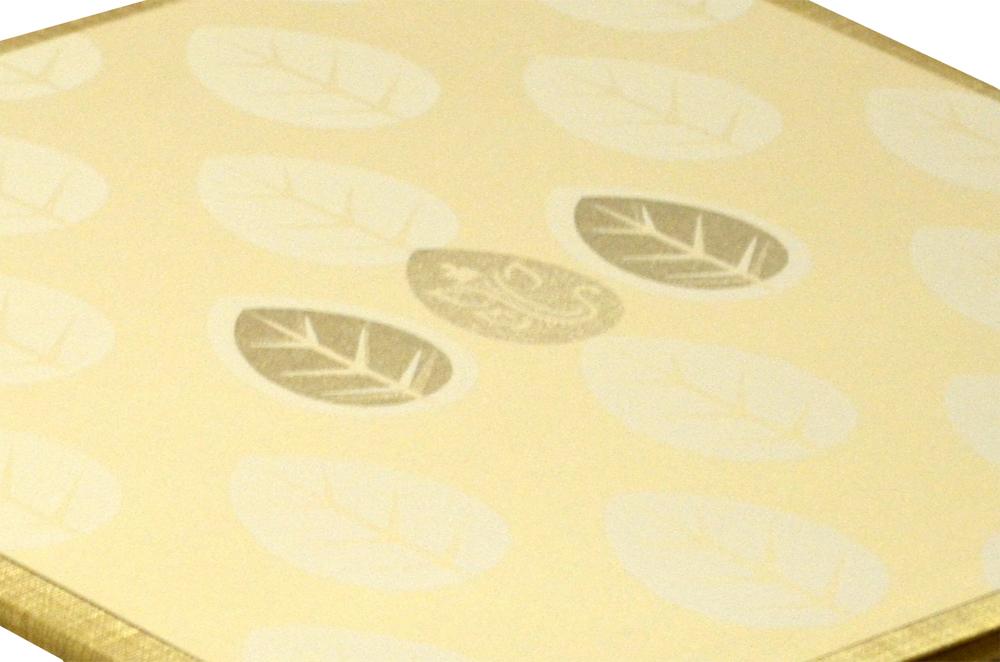 Padded Wedding Card Design RN 2046 GOLD b