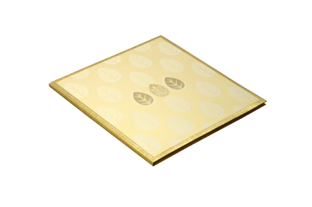 Padded Wedding Card Design RN 2046 GOLD c