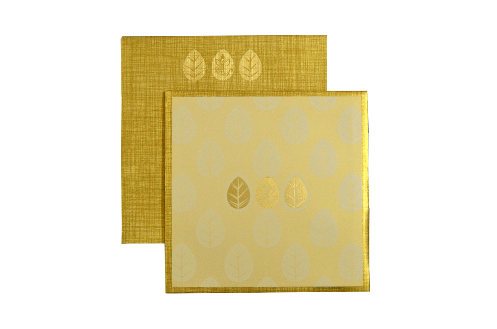 Padded Wedding Card Design RN 2046 GOLD d