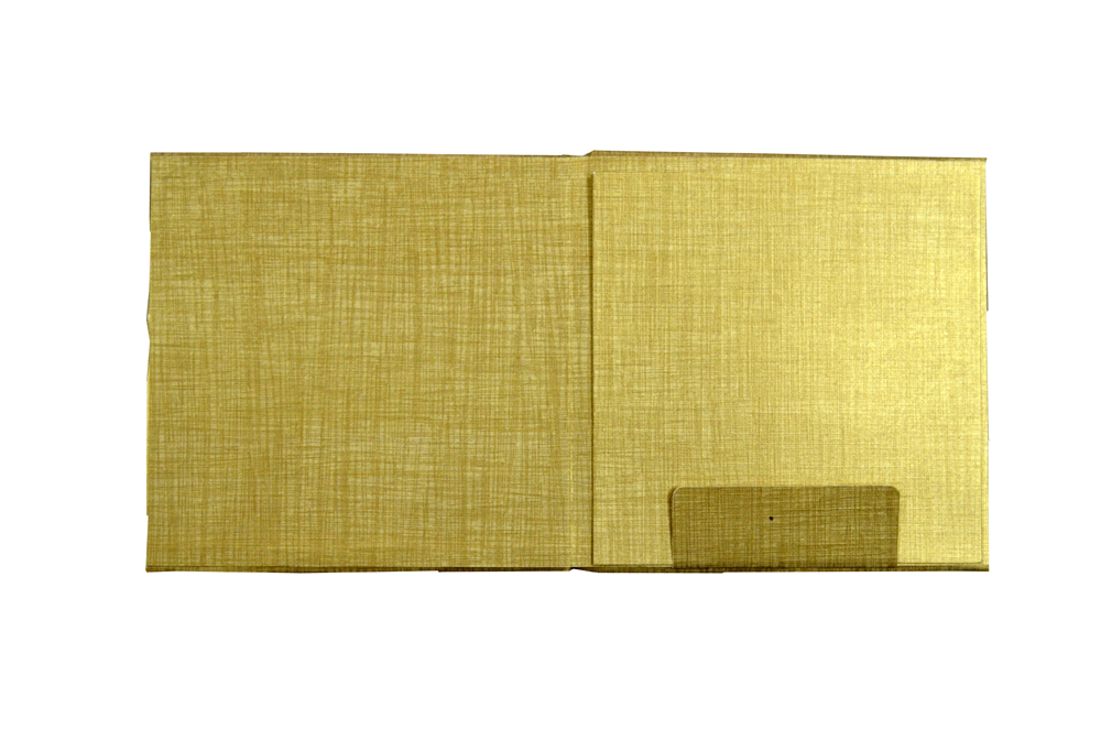 Padded Wedding Card Design RN 2046 GOLD f
