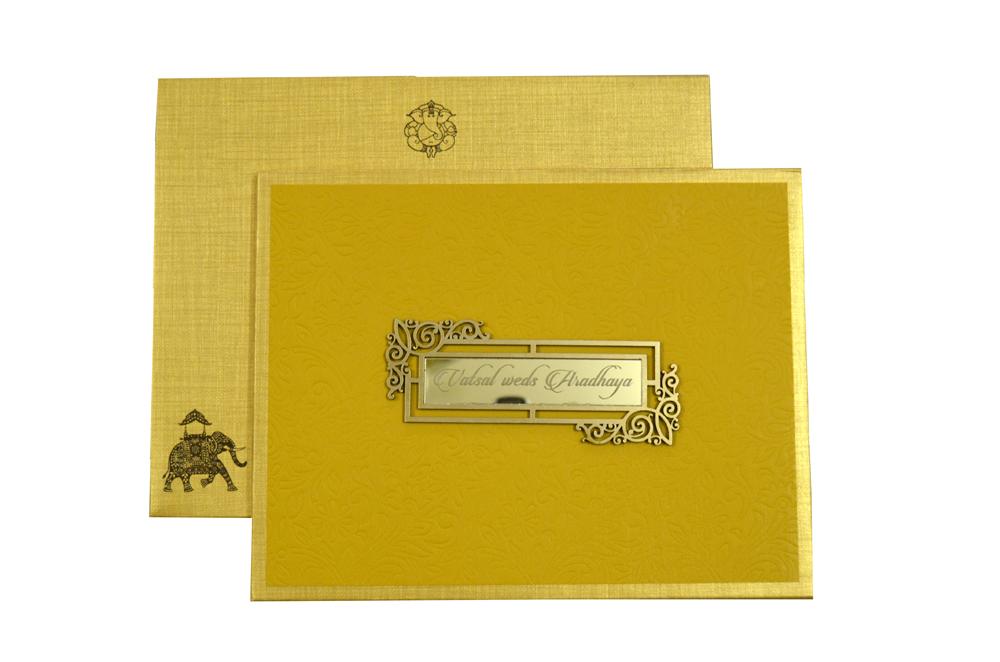 Muslim Padded Wedding Card RN 2056 d