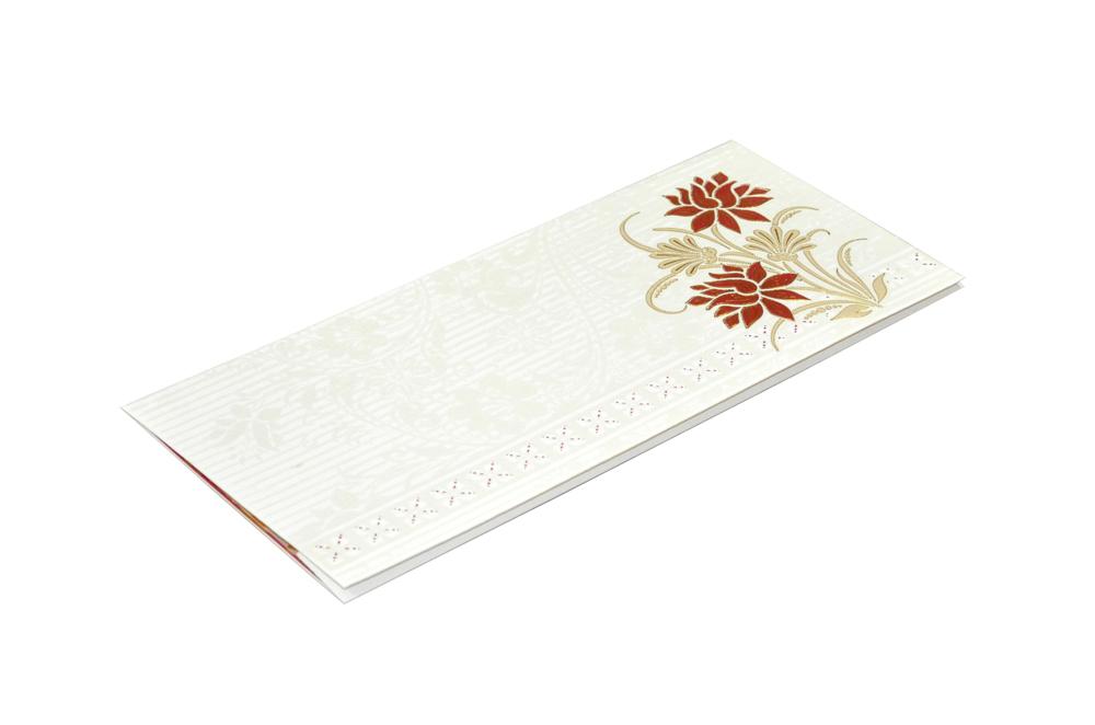 White Budget Wedding Card RN 2073 c