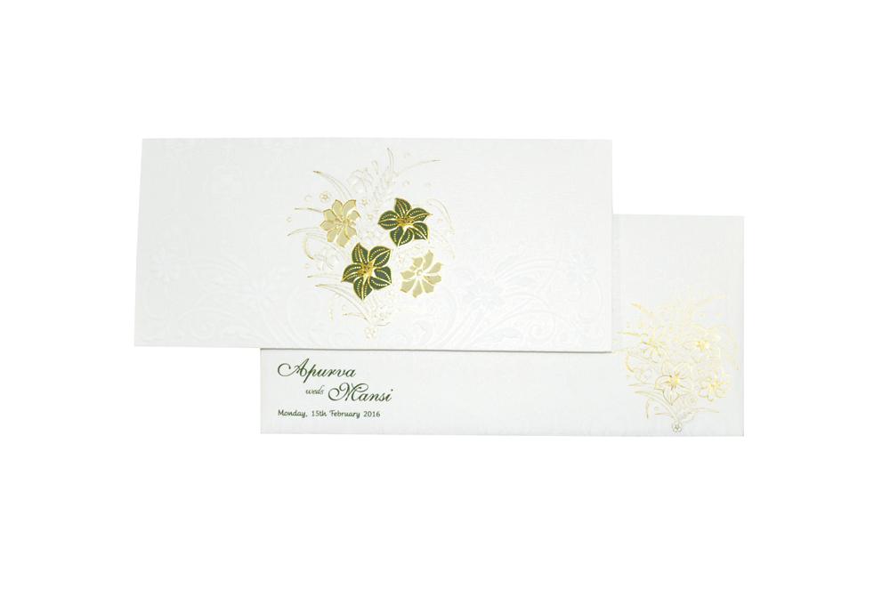 White Budget Wedding Card RN 2076 d