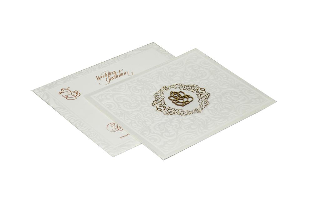 White Wedding Card RR 392