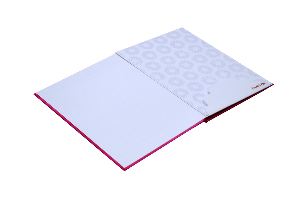 Pink Satin Cloth Wedding Card RR 435 PINK e