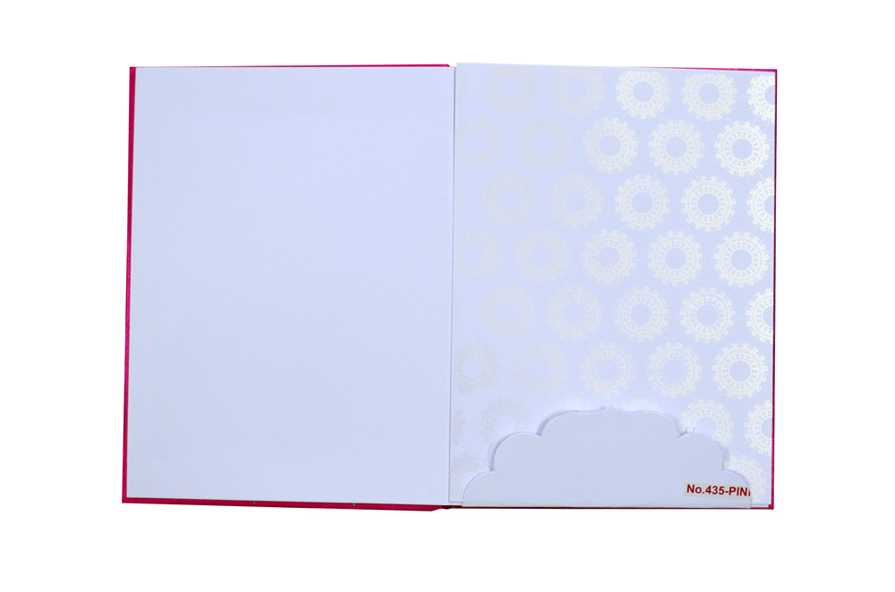 Pink Satin Cloth Wedding Card RR 435 PINK f