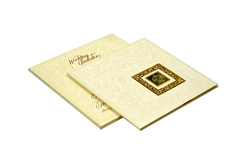 Hindu Padded Wedding Card RR 521