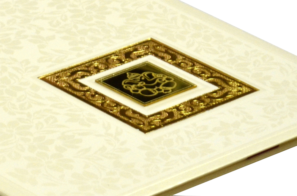 Hindu Padded Wedding Card RR 521 b