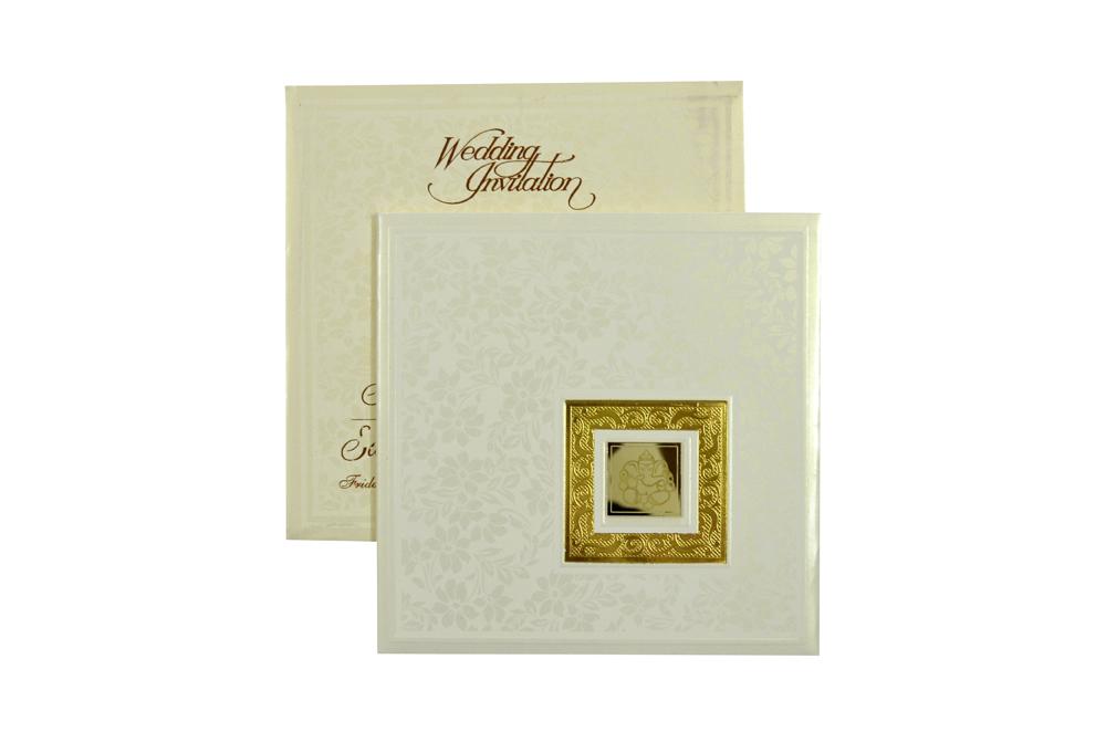 Hindu Padded Wedding Card RR 521 d