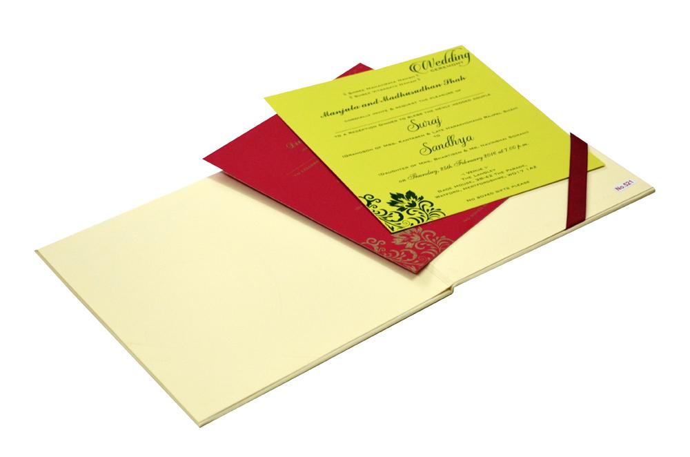 Hindu Padded Wedding Card RR 521 e