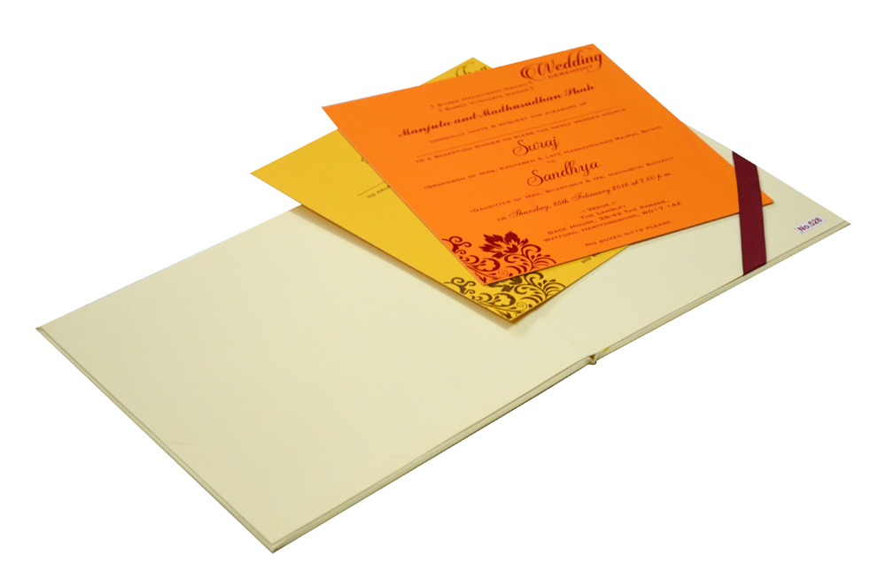 Padded Wedding Card Design RR 528 e