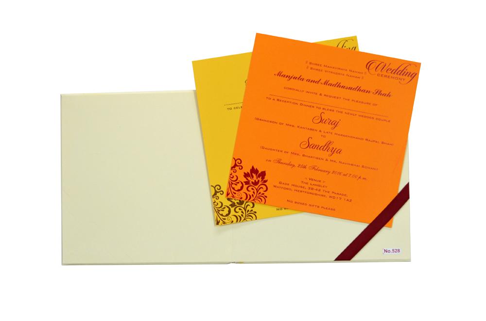 Padded Wedding Card Design RR 528 f