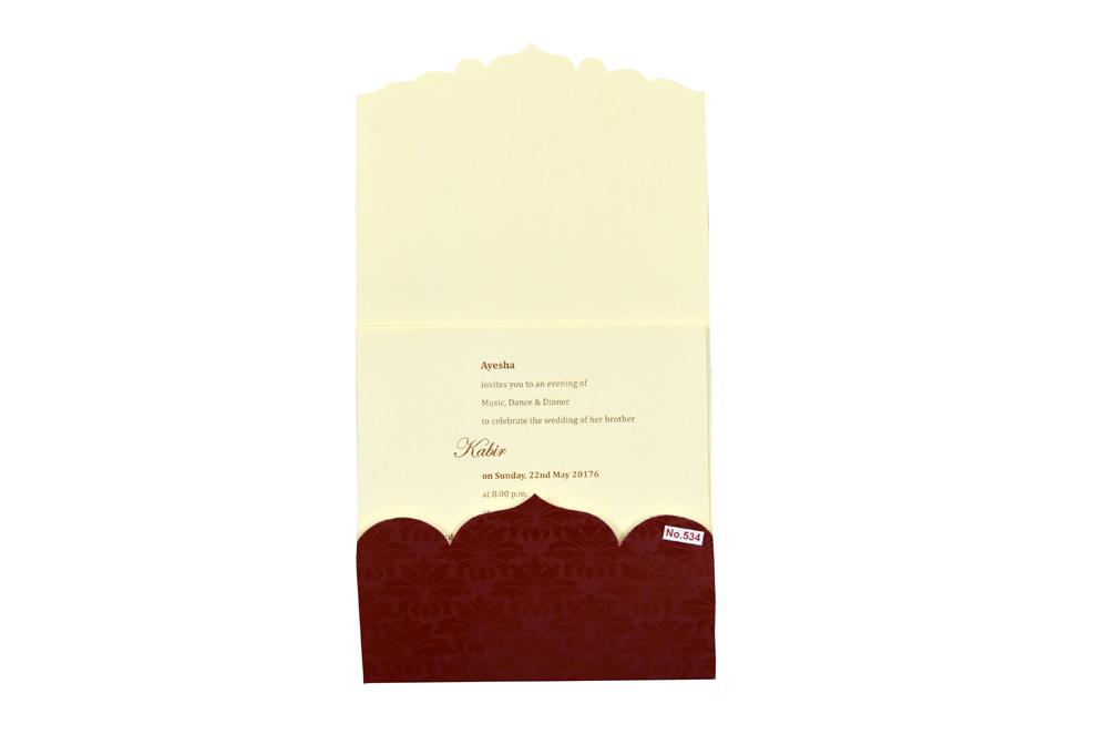 Hindu Wedding Card Design RR 534 f